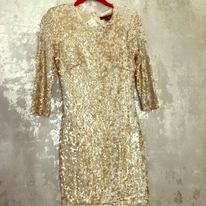 Gold sequin French Connection Dress